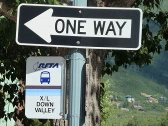 One way downvalley