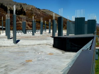The current roof of the planned Little Nell Snowmass hotel.