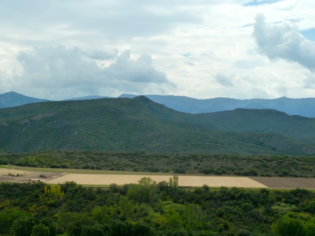 Another view of the leveled pasture from Watson Divide Road on Aug. 24, 2012.