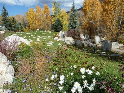 The John Denver Sanctuary is now nestled between the Roaring Fork River and a new garden that also serves as a natural way to filter stormwater runoff from downtown Aspen and Aspen Mountain. It's beautiful. And it's environmentally efficient. Denver would likely have appreciated it.