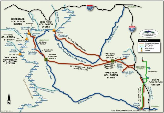 Colorado Springs water source map
