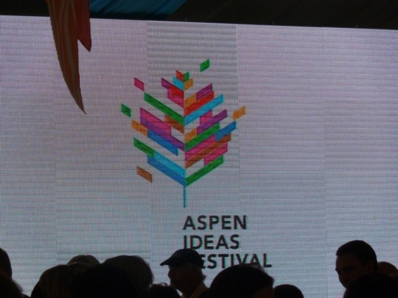 A new logo for the Aspen Ideas Festival was unveiled at the closing event on Tuesday, July 2.