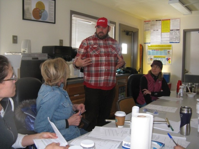 Jack Johnson, public outreach and education coordinator for the Pitkin County Solid Waste Center, welcomes participants to the first in a series of agriculture workshops held, free to the public, at the Pitkin County Landfill.