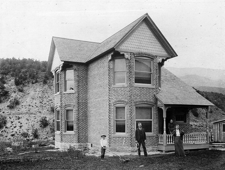 Emma Merchant Charles H. Mather enjoyed a prosperous trade in Emma, which afforded him the wealth to construct a stately brick home near his store