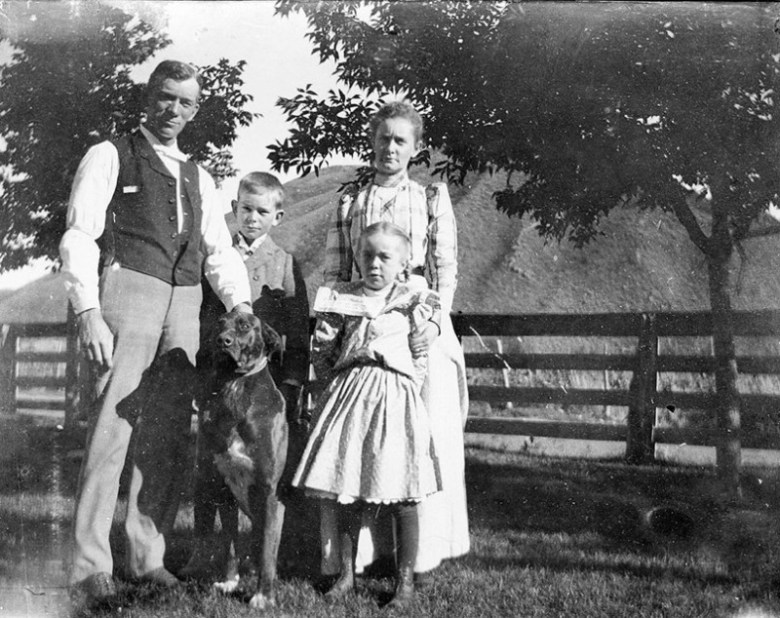 Charles H. Mather and his wife Alice, son George and daughter Alice. At the time of this photo in the early 1990s, the Roaring Fork River valley was booming with commerce and industry.