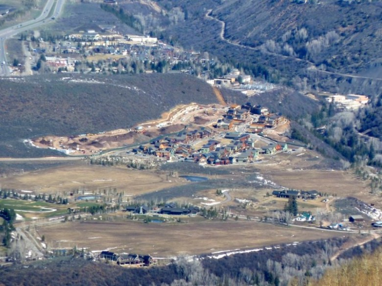 The Burlingame project, as seen from Aspen Mtn. in early 2014.