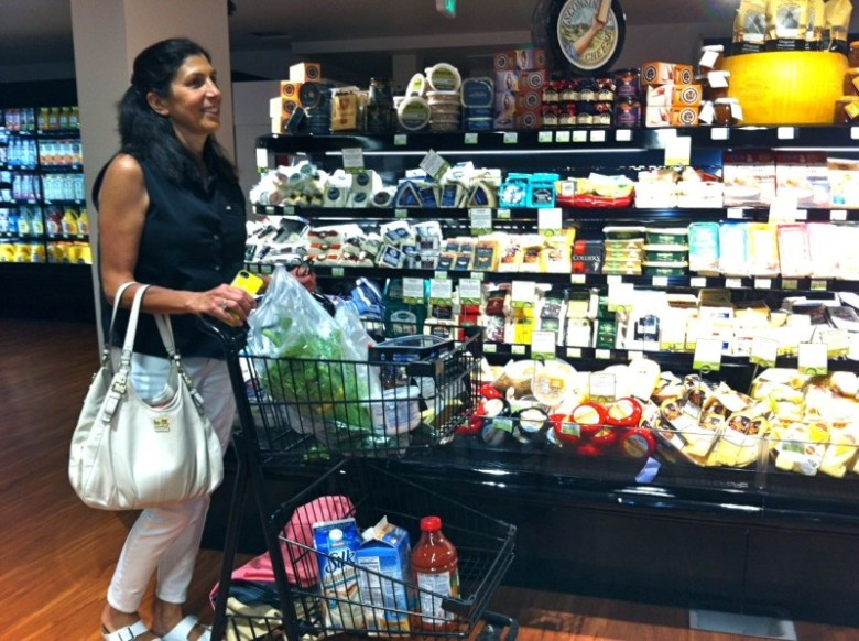 Marianne Faurer of Snowmass Village shopped early on opening day at the Clark's Market in Snowmass Village. Faurer's early impression of the store was positive, based upon the variety of organic and artisan products.