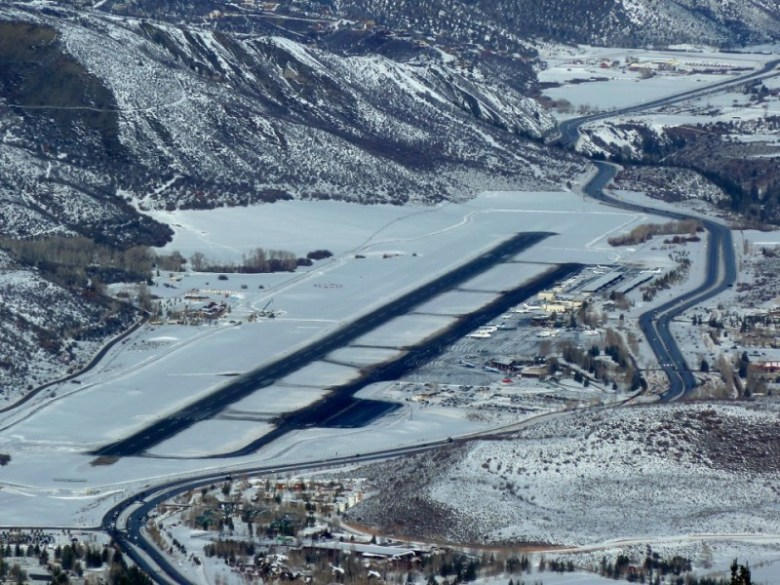 A new west-side taxiway and fixed base operator, a new runway alignment, and a new terminal are all on the list of improvements at the Aspen airport, seen here from Shadow Mountain in early 2014..