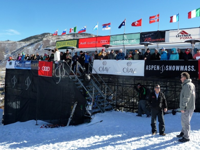 The VIP tent at near the base of Lift 1A during the 2014 World Cup ski races.