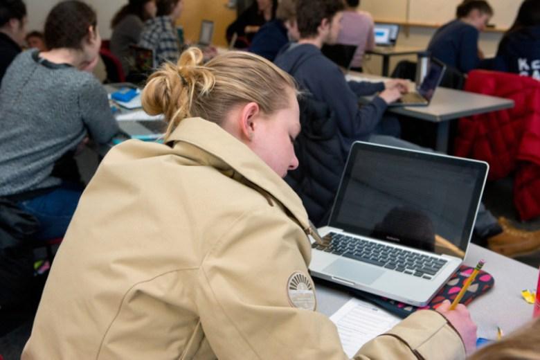 Ed - girl taking test