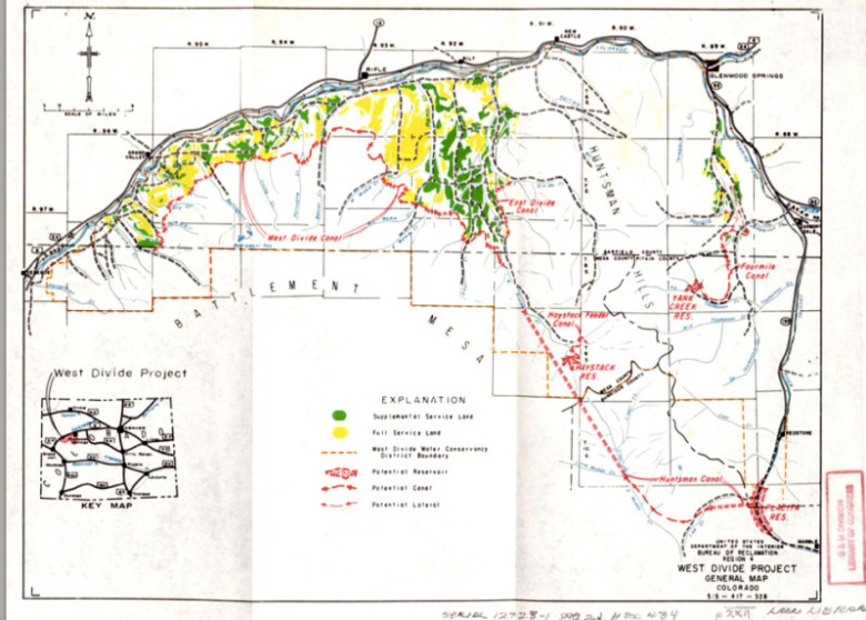 An early map of the West Divide project.