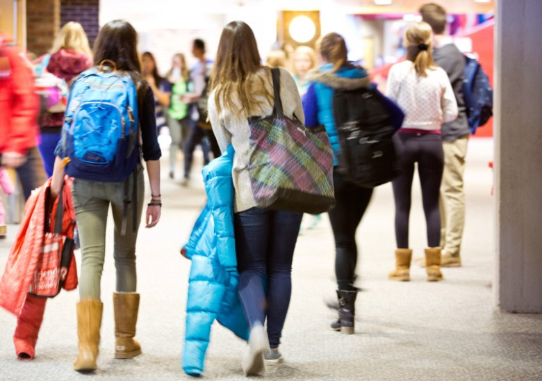 AHS students in hallway
