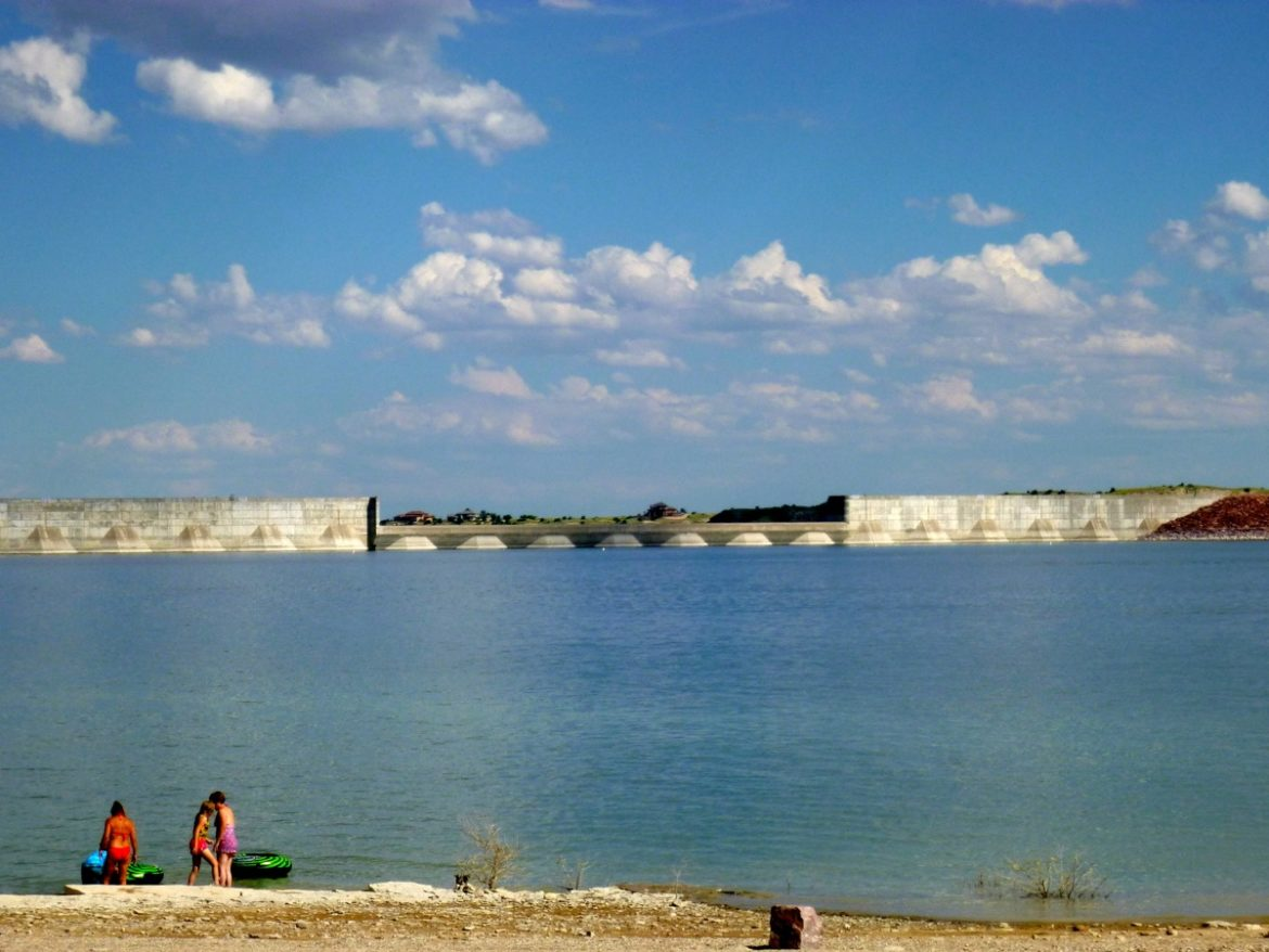 Pueblo Reservoir, near Pueblo, a key component of water management in the Arkansas River basin.