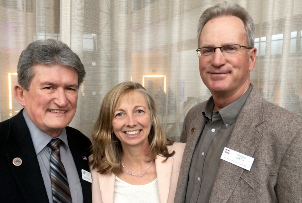 Alan Hamel, left, April Montgomery, center, and Travis Smith, right. The three long-serving directors on the Colorado Water Conservation Board are stepping down as their current term ends.
