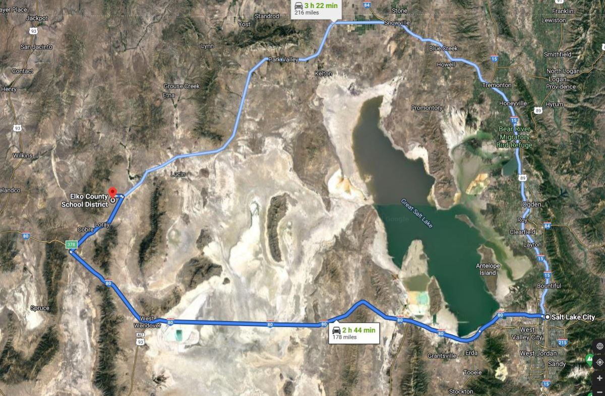 Directions from salte lake