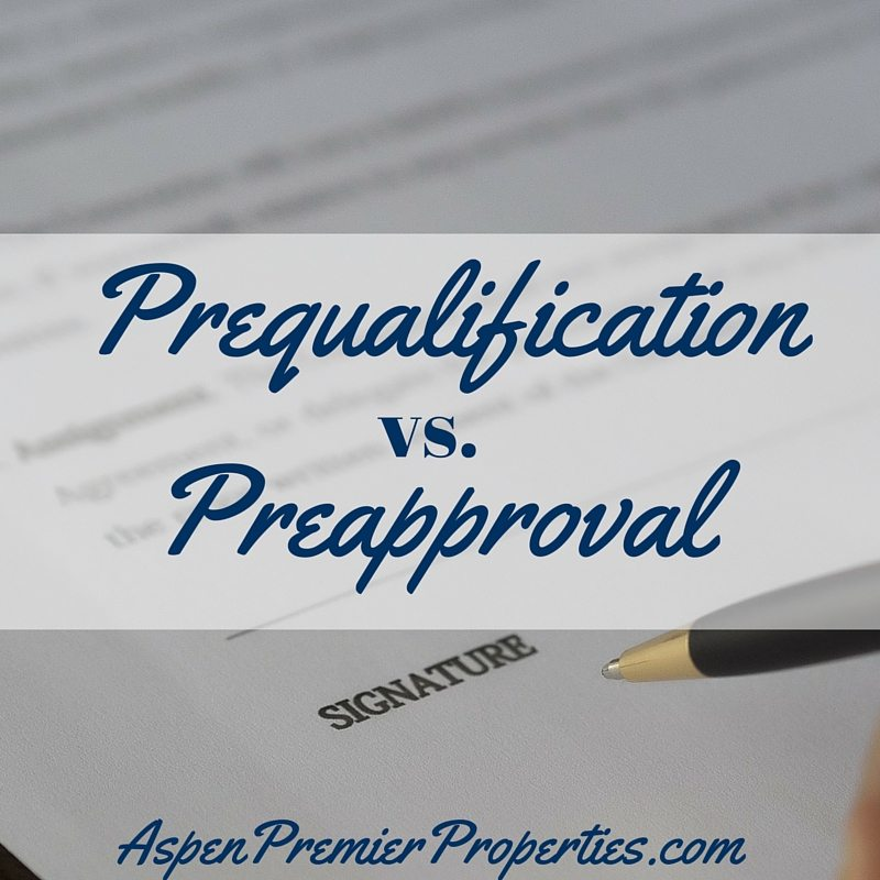 Prequalification vs Preapproval - buy a home in aspen