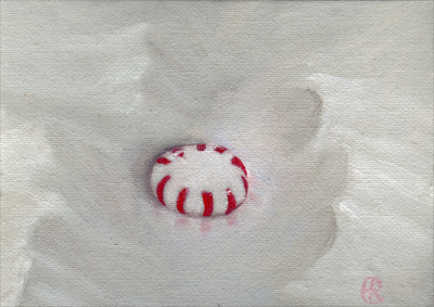 Peppermint in Snow, Oil, 2008