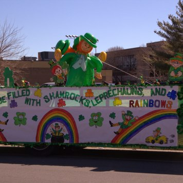 St. Patrick's Day float