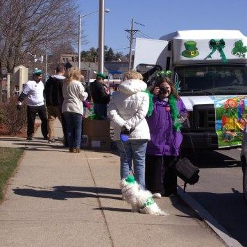 Eva, Lisa, Molly, Daniel & other Parade participants