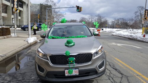 St. Patrick's Day car