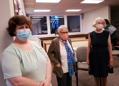 Guests Karen Bodenrader, Jean Sanders, and Kathy Douglas