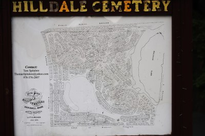 Hilldale Cemetery Map
