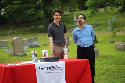 Josiah Morrow and Daniel Rajczyk (AWorks ED) at table
