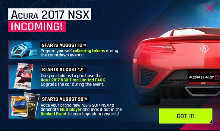 Acura NSX Incoming