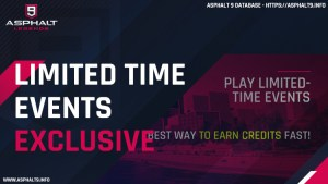 asphalt 9 exclusive limited time events