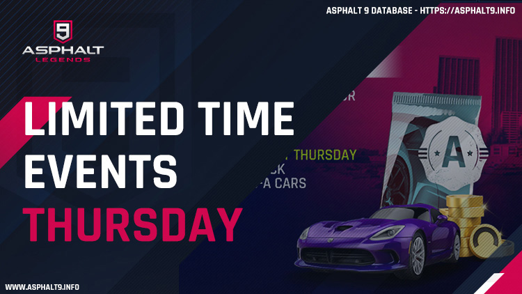 asphalt 9 limited time events thursday