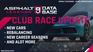 club race update