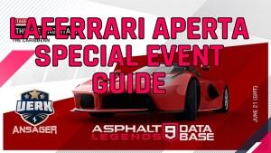 guía de eventos especiales de asfalto 9 ferrari laferrari