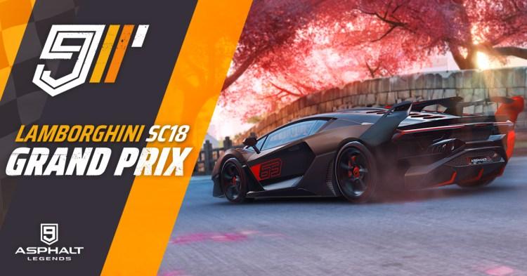 Asphalt 9 Lamborghini SC18 Grand Prix