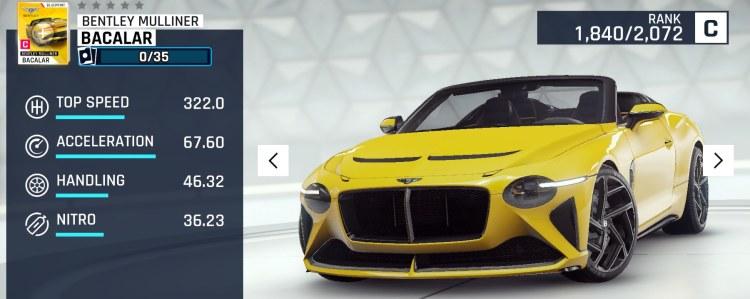 update 14 Bentley Mulliner Bacalar