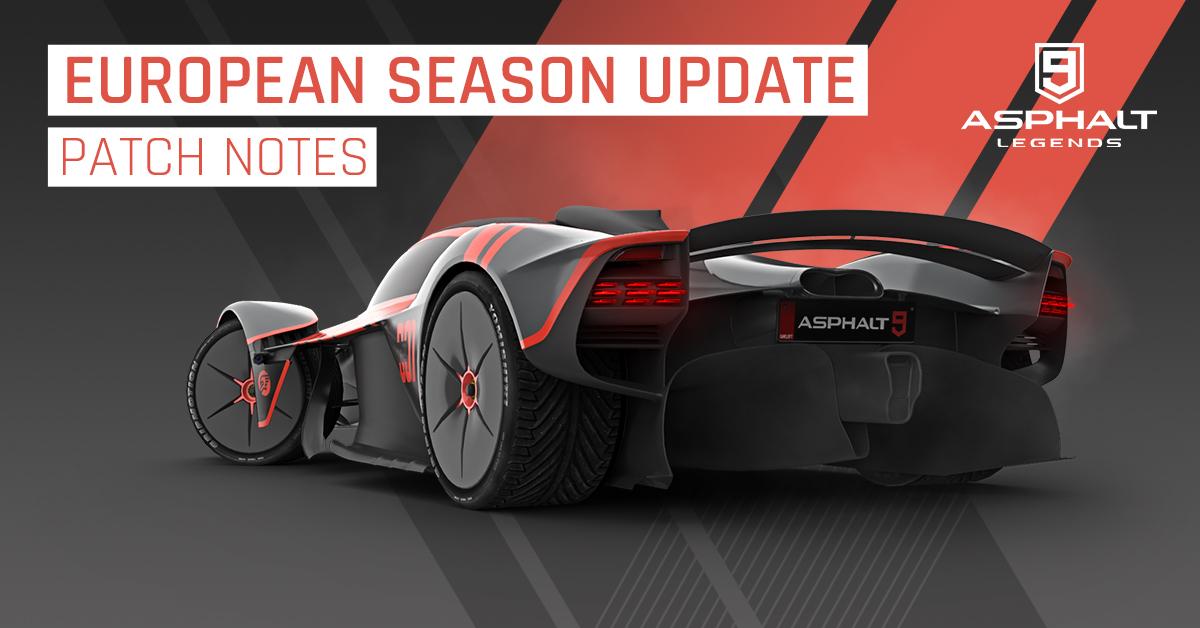 asphalt 9 update 19 european season