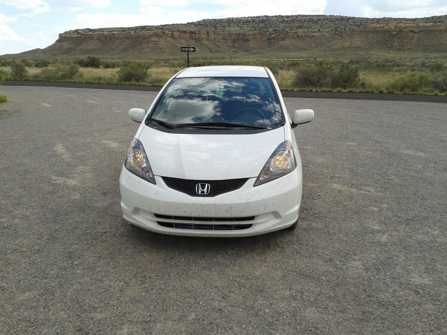 Our 2013 Honda Fit at Chaco Culture National Historical Park in New Mexico.