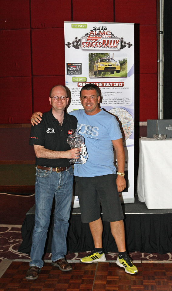 Overall Rally Winner Paul Bird with COC Raymond Scullion