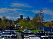 Ely through the train window.
