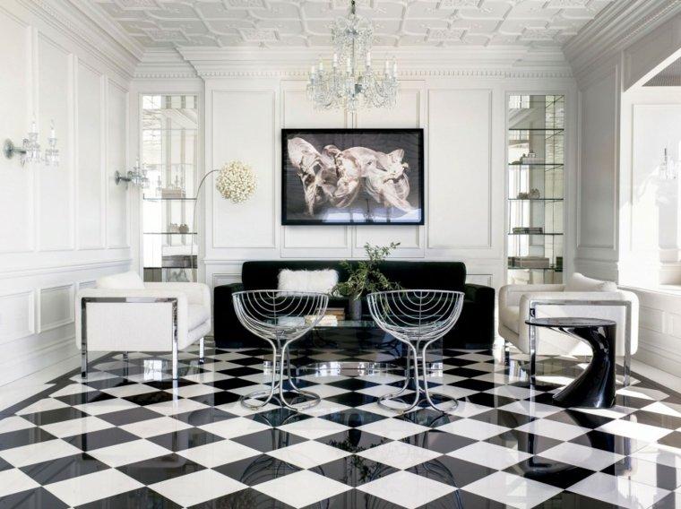 white tiles very chic original ideas