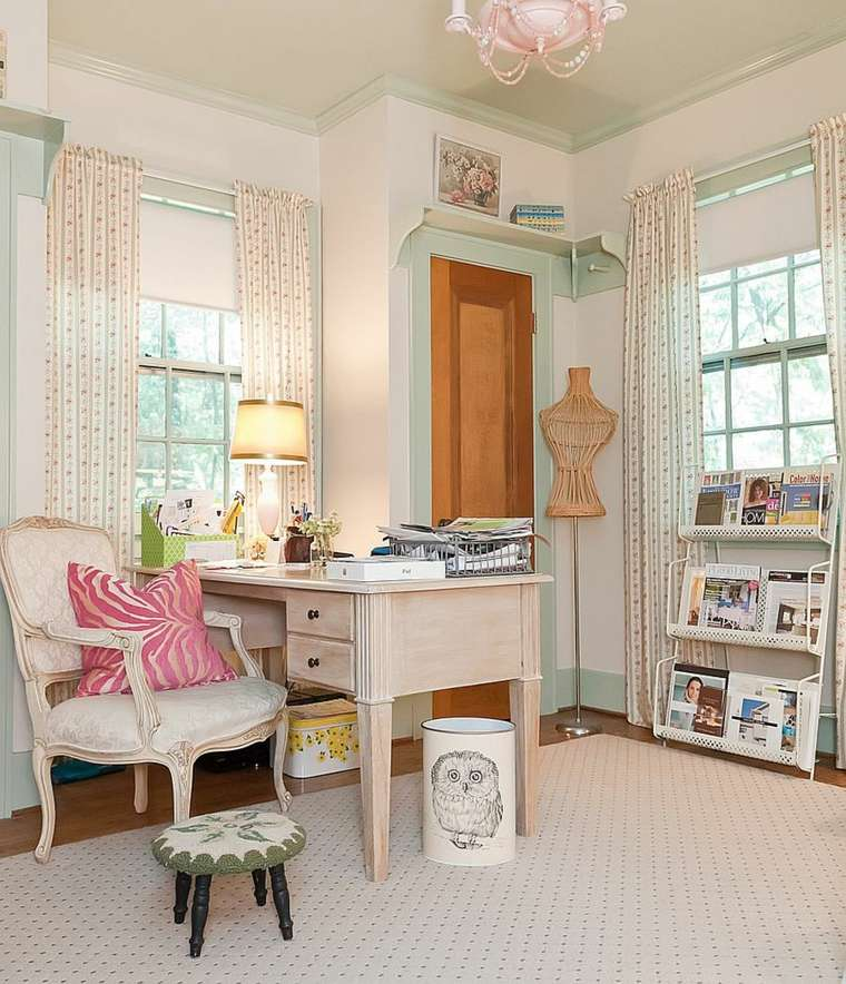 home office decor 35 shabby chic style