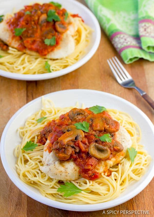 Zesty Easy Chicken Cacciatore Recipe | ASpicyPerspective.com