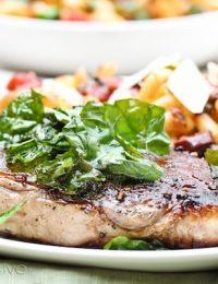 Steak with Crispy Basil