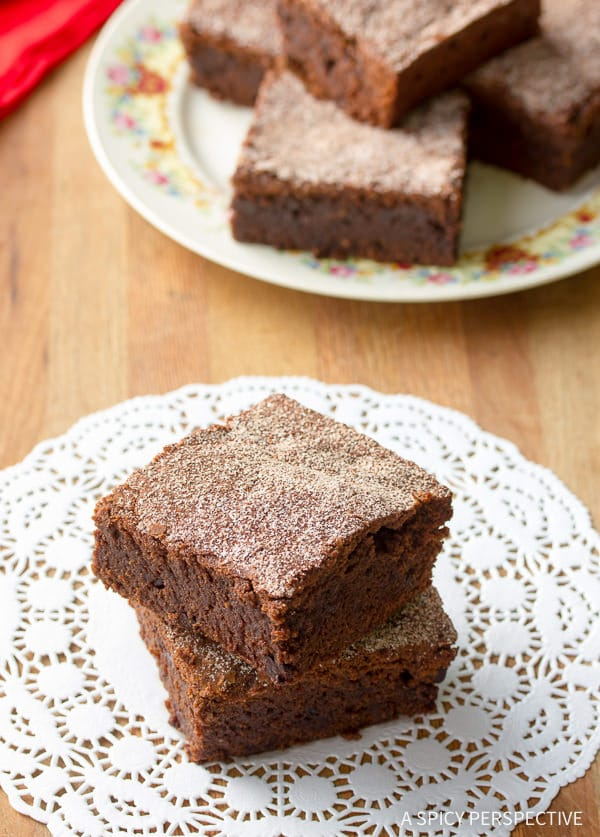 Decadent Spiced Mexican Brownies Recipe | ASpicyPerspective.com