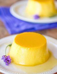 Creamy Lavender Flan Recipe | ASpicyPerspective.com