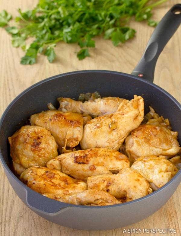 Classic Hungarian Chicken Paprikash (Paprikas) | ASpicyPerspective.com