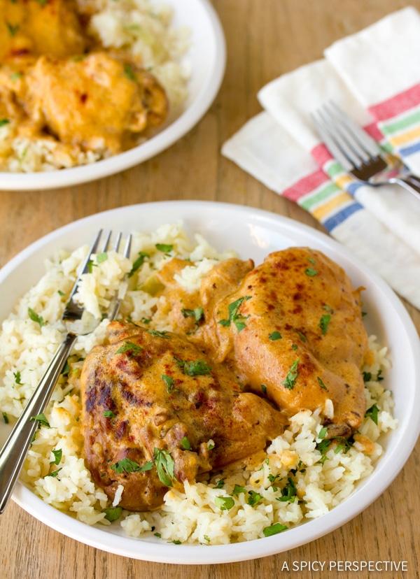 Amazing Hungarian Chicken Paprikash (Paprikas) | ASpicyPerspective.com