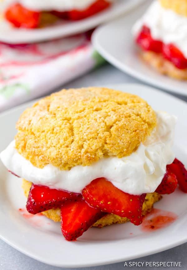The Best Rustic Strawberry Shortcakes Recipe | ASpicyPerspective.com