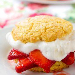 Rustic Strawberry Shortcakes Recipe | ASpicyPerspective.com
