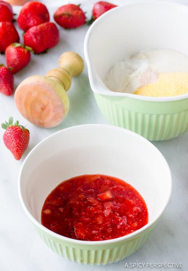 Making Rustic Strawberry Shortcakes Recipe | ASpicyPerspective.com
