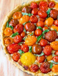 Perfect Fresh Tomato Tart Recipe | ASpicyPerspective.com